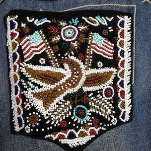 Double D Ranch beaded pocket western jeans